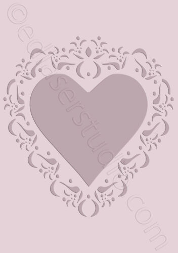 Love Heart Stencils Reusable Vintage Painting Furniture Card making Wall HE44