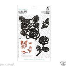 Docrafts Xcut 4 piece A5 sheet Rose flower die set use X cut Sizzix eBosser etc