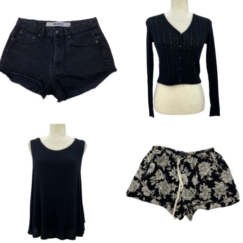 Brandy Melville Shorts and Tops Lot Black One Size