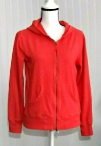 Columbia-Women-039-s-Hoodie-Size-M-Coral-Long-Sleeves-Full-Zipper-Front-Pockets