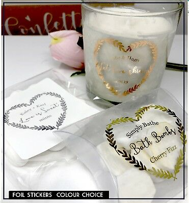 Bridal Shower Favor Stickers Party Favor Labels Let Love Glow Stickers Custom Stickers for Candles