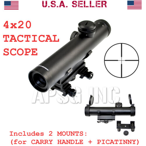 Carry Handle Mounts Duplex Reticle with Picatinny Sniper® 4x20 Tactical Scope