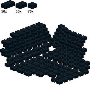 Lego-Bricks-Black-A24-Basicsteine-schwarz-breit-70Stk-2x2-30Stk-2x
