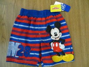 Disney Mickey Mouse Toddler Boys Roadster Racers Swim Trunks 2T Blue Multi