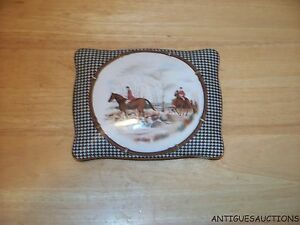 RALPH LAUREN BALMORAL HUNT BY WEDGWOOD DIVIDED TRINKET BOX NEVER USED