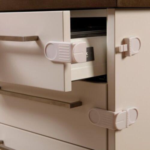 Dreambaby Angle Locks for Corner Drawers 4 Locks Cabinets