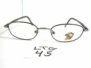 New Garfield Collectible Eyewear Eyeglasses For Kids Boys Girls Brown Ltg 45 Ebay