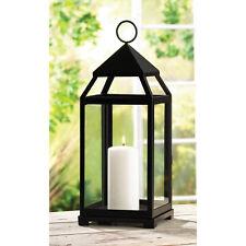 "Elegant Decor LARGE 17 1/2"" Contemporary Chandelier Black Candle Lamp Lantern"