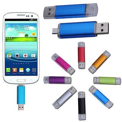 Dual 8G 2 in1 Micro USB/USB 2.0 Flash Memory Stick Drive Support OTG 8GB 1pcs ML