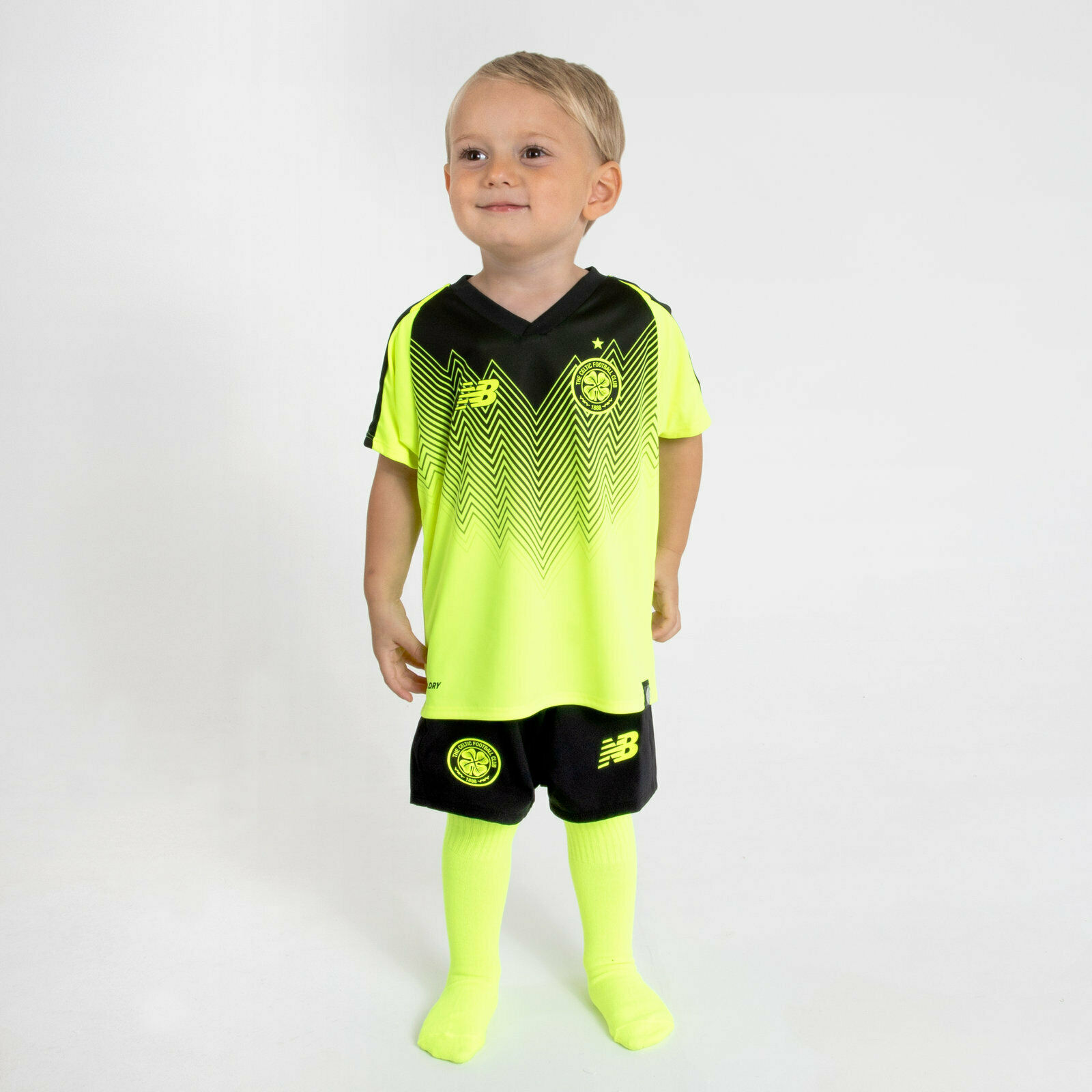 New Balance Celtic FC 18 19 3rd Mini Kids Football Kit Sport Training