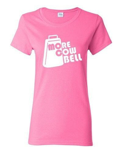 Ladies More Cowbell Music TV Show Band Host Parody Funny Humor T-Shirt Tee
