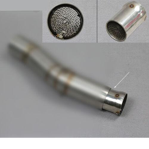 Motorrad Schalldämpfer Auspufftopf Einlage Silencer 45-51mm Auspuffkrümmer Rohr