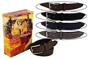 Cintura-uomo-in-cuoio-034-Renato-Balestra-034-con-box-di-metallo-idea-regalo