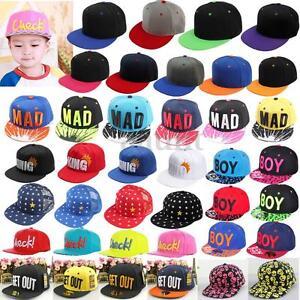 4d63d141070 NEW Baby Boy Girl Kids Hat Hip-hop Peaked Visor Snapback Adjustable ...