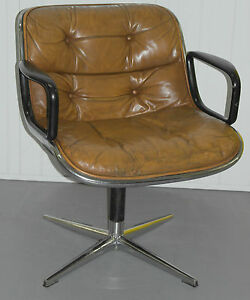 ... ORIGINAL 1963 KNOLL CHARLES POLLOCK EXECUTIVE CHAIR WITH