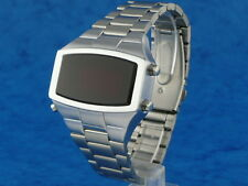 70s 1970s Old Vintage Style LED LCD DIGITAL Rare Retro Mens Watch 12 & 24 hr W