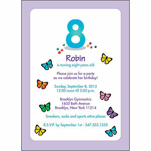Image Is Loading 25 Personalized Childrens Birthday Party Invitations 8 Years