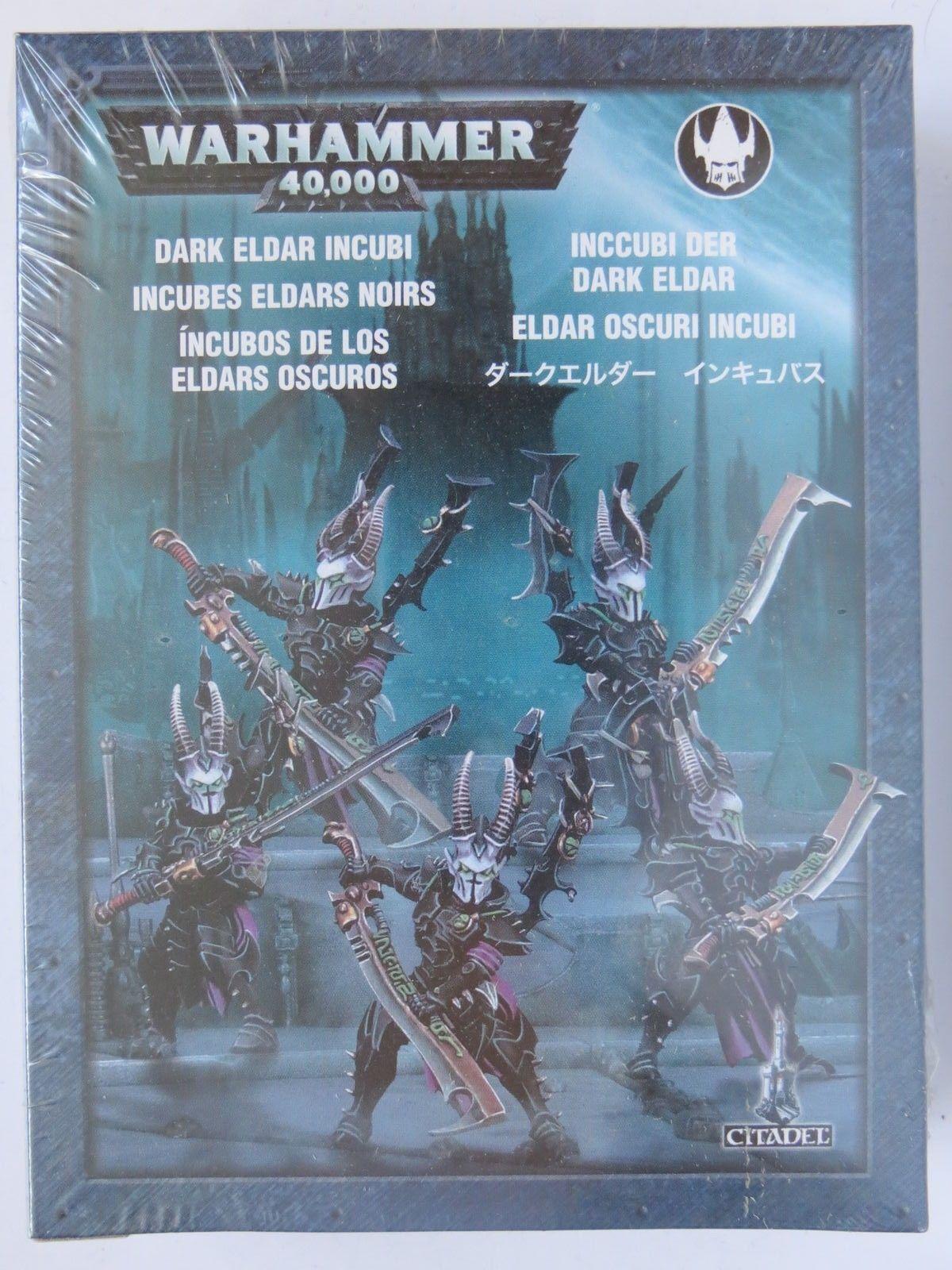 Games Workshop Warhammer 40k Dark Eldar Incubi Squad Metal Figures Drukhari BNIB