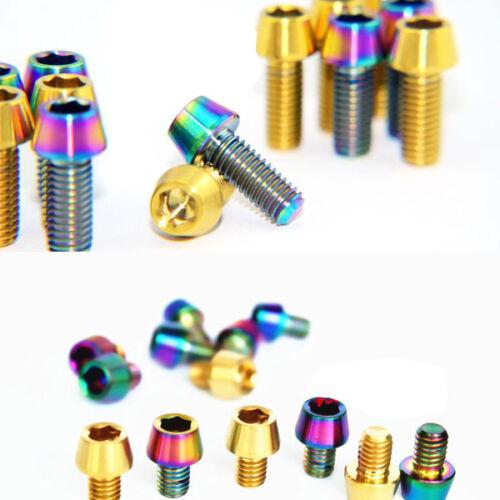 4Pcs M6 x 8//10//16mm Titanium Conical head Bolt hexagon socket head cap screw