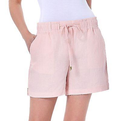 NWT Women/'s ELLEN TRACY COMPANY Caper Green Linen Shorts Size Medium M