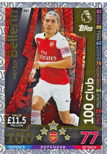 Match Attax 2018//19 Hector bellerin 100 cents CLUB Nº 447 Comme neuf