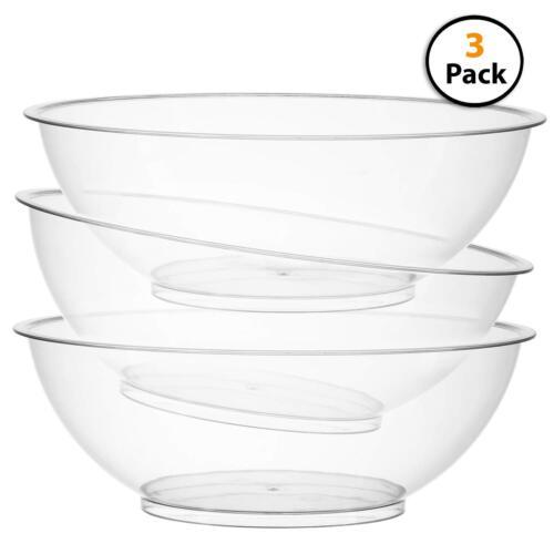 Round Salad and Snack Bowl Set of 310-inch Vista Plastic Serving bowls