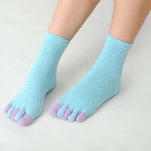 Pure Cotton Five Fingers Massage Non Slip Toe Full Grip With Socks For Lady Nice
