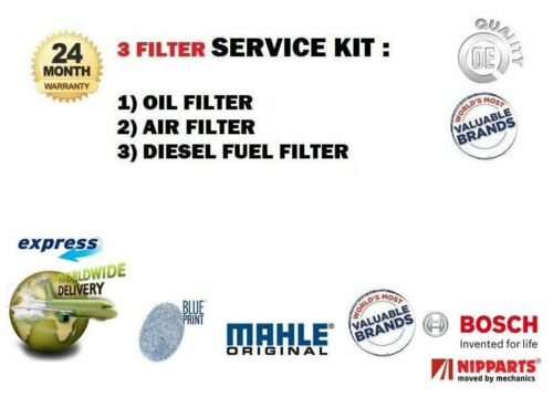 FOR KIA PROCEED 2.0 DT CRDI 2008> OIL AIR FUEL FILTERS 3 KIT EO QUALITY