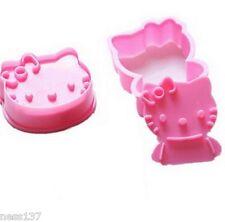 2 Moules Gateaux Hello Kitty Emporte Pièce Pate à Sucre & d'Amande