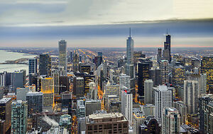 CHICAGO-WINTER-USA-NEW-A2-CANVAS-GICLEE-ART-PRINT-POSTER-FRAMED