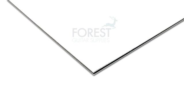 Pickguard feuille, ABS blanc, Blanche 3 Plis (W/B/W) 450x300x2.5 mm