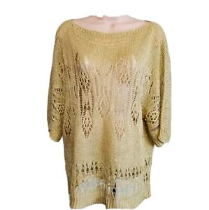 MOTH Anthropology Sweater Top Size S Tan Color See Tunic
