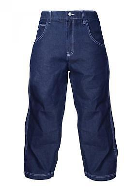 360 Clothing Threesixty 360etn Dark Denim Blu Indaco Jeans Loose Fit Skate Hip-mostra Il Titolo Originale Alleviare Il Calore E La Sete.