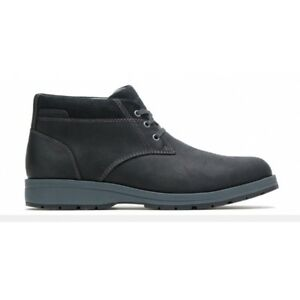 Hush-Puppies-BEAUCERON-PT-CHUKKA-Mens-Lace-Up-Leather-Casual-Ankle-Boots-Black