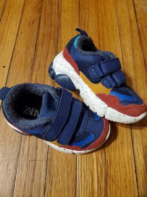 Zara Baby Boy Size 3 (19) 9-12 Months Colorblock Shoes | eBay