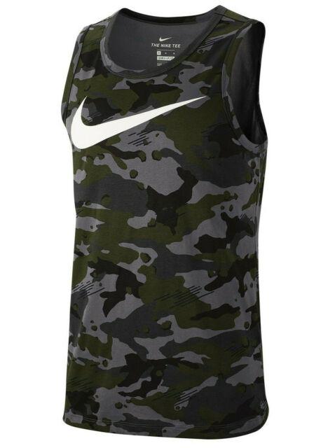 Mens Nike Tee Tank Top Medium Dri Fit NWT Camo Camouflage Cotton Blend