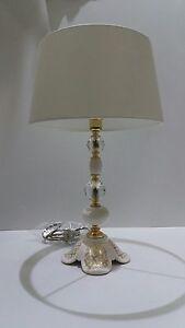 Lume Medio 1 Luce Via Veneto Foglia Oro Ceramica Arredo Casa Como' MatéRiaux Soigneusement SéLectionnéS