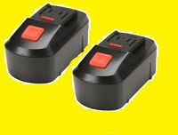 Lot Of 2 18 Volt Nicd Rechargeable Battery Pack 1300 Mah Drill Master 68413 18v