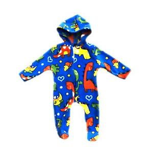 837de51f4 Baby Boys Girls Fleece One Piece Pajamas Outfit All In One Dinosaurs ...