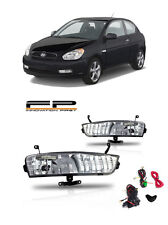 For 2007-2011 Hyundai Accent Fog Lights Clear Front Driving Lamps PAIR Full Kit