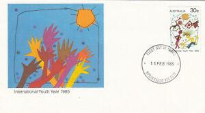 (12396) Fdc Australie Jeunesse Année 13 Février 1985-afficher Le Titre D'origine