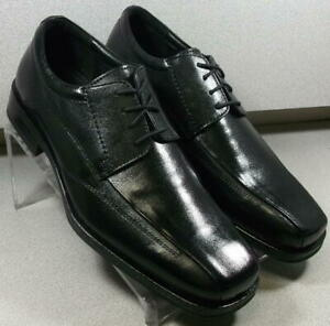 5931181 MS50 Men's Shoes Size 11.5 M Black Leather Lace Up Johnston & Murphy