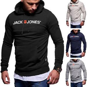 Jack-amp-Jones-senores-Hoodie-sudaderas-senores-camisa-manga-larga-camisa-jersey