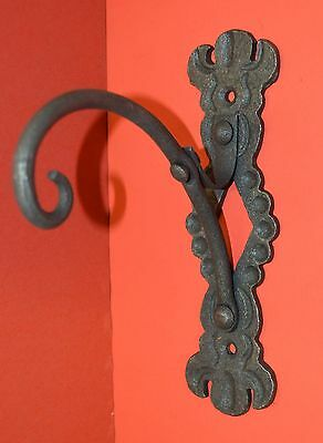 Wrought Iron USA Elegant Detailing by Blacksmiths Shepard Hook Wall Hanger