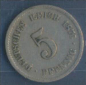 German-Empire-Jagerno-3-1876-F-very-fine-Copper-Nickel-1876-5-Pfennig-7849130