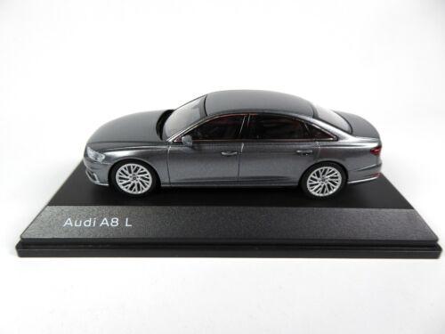 Dealer Pack Model Car Diecast 8131 Audi A8 L Monsun Grey 1:43 iScale