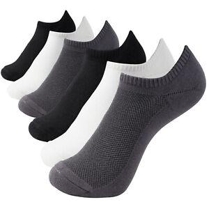 +MD Men Women Antibacterial Cushioned Bamboo Low-Cut Socks 6 Pack