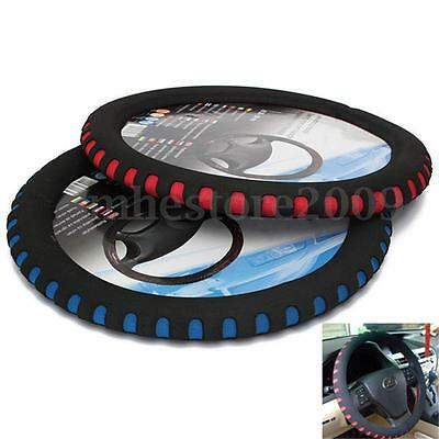 Blue / Red Eva Foam Sport Soft Auto Car Steering Wheel Cover Cap Anti-slip 38CM