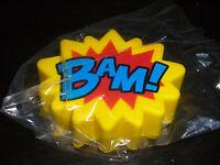 Batman Bam Yellow & Blue Cartoon Fighting Bubble 3 Stress Ball