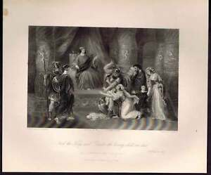 2218115cdef3 Image is loading The-Judgment-of-Solomon-1847-Steel-Engraving
